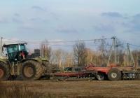 Claas Xerion 4500 #1858 ЕО 32 тяжелой дисковой бороной. Россия, Брянская область, Суражский район, Высокоселище