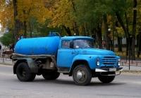 Вакуумная машина КО-503В на шасси ЗиЛ-130* #Р 612 ВХ 67. Россия, Смоленская область, Рославль