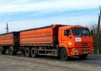 Зерновоз на шасси КамАЗ-65117 #М 583 ХС 32 с прицепом. Россия, Брянская область, Сураж