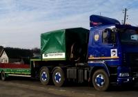 Автопоезд в составе седельного тягача МАЗ-6440 #Н 112 КТ 32 с полуприцепом-тяжеловозом. Россия, Брянская область, Сураж