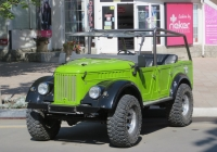 Автомобиль ГАЗ-69А. Анапа, улица Максима Горького