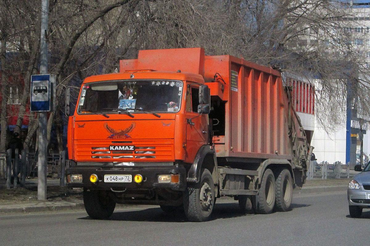 Мусоровоз КО-427-03 на шасси КамАЗ-53229 #К 048 НР 72 . Тюмень, Профсоюзная улица