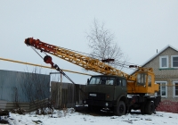Автокран КС-3562Б на шасси МАЗ-5334 # Е 040 КО 31. Белгородская область, Красненский район, с. Камызино