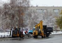 Уборка снега. Белгородская область, г. Алексеевка, ул. Фрунзе