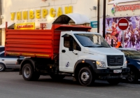 """Самосвал ГАЗ-САЗ-2507 на шасси ГАЗ-C41R11 """"ГАЗон Next"""" #С 896 ЕО 72 . Тюмень, улица Республики"""