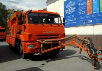 Дорожный ремонтер Strassmayr STP 1008/6000, смонтированный на автомобиле КамАЗ-65117 на выставке Тюмень - наш Дом-2017. Тюмень, Севастопольская улица