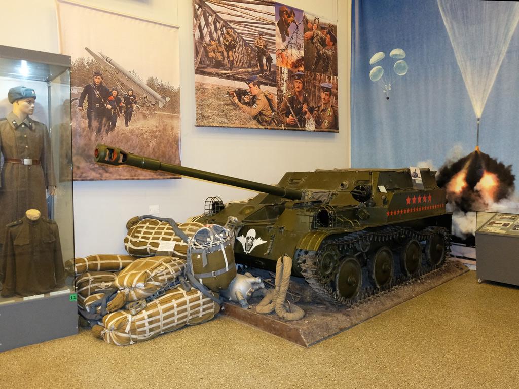 Авиадесантная артиллерийская самоходная установка АСУ-57 . Москва, Центральный музей Вооружённых Сил Российской Федерации