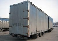 """Бортовой грузовой автомобиль Mercedes-Benz SK 2433 #Н 833 ХХ 72 с прицепом #ЕТ 9075 89. Тюмень, парковка ТРЦ """"Кристалл"""""""