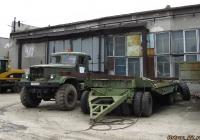 Автомобиль-тягач КрАЗ-255В1 #Х 114 АМ 22 с прицепом-тяжеловозом. Алтайский край, Барнаул, улица Титова