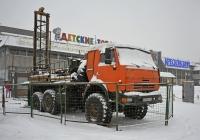 Буровая установка ПБУ-2-314 на шасси КамАЗ-43114 #У 078 НО 197. Москва, Проспект Мира