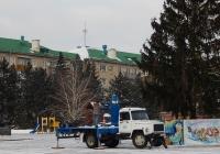 Автовышка ВИПО-24-01  на шасси ГАЗ-3309 # О 802 СР 31. Белгородская область, г. Алексеевка, пл. Победы