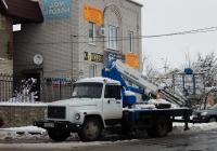 Автовышка ВИПО-24-01 на шасси ГАЗ-3309 # О 802 СР 31. Белгородская область, г. Алексеевка, ул. Старых Большевиков