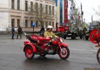 Пожарный мотоцикл с мотопомпой МП-800. Алтайский край, Барнаул, площадь Свободы