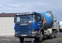 Бетоносмеситель на шасси Scania P114C # Р 374 РК 36. Белгородская область, г. Алексеевка, ул. Чапаева