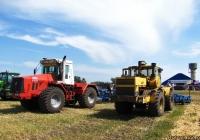 Тракторы К-744Р2 и К-700А на выставке. Алтайский край, Павловский район, в окрестностях посёлка Прутской