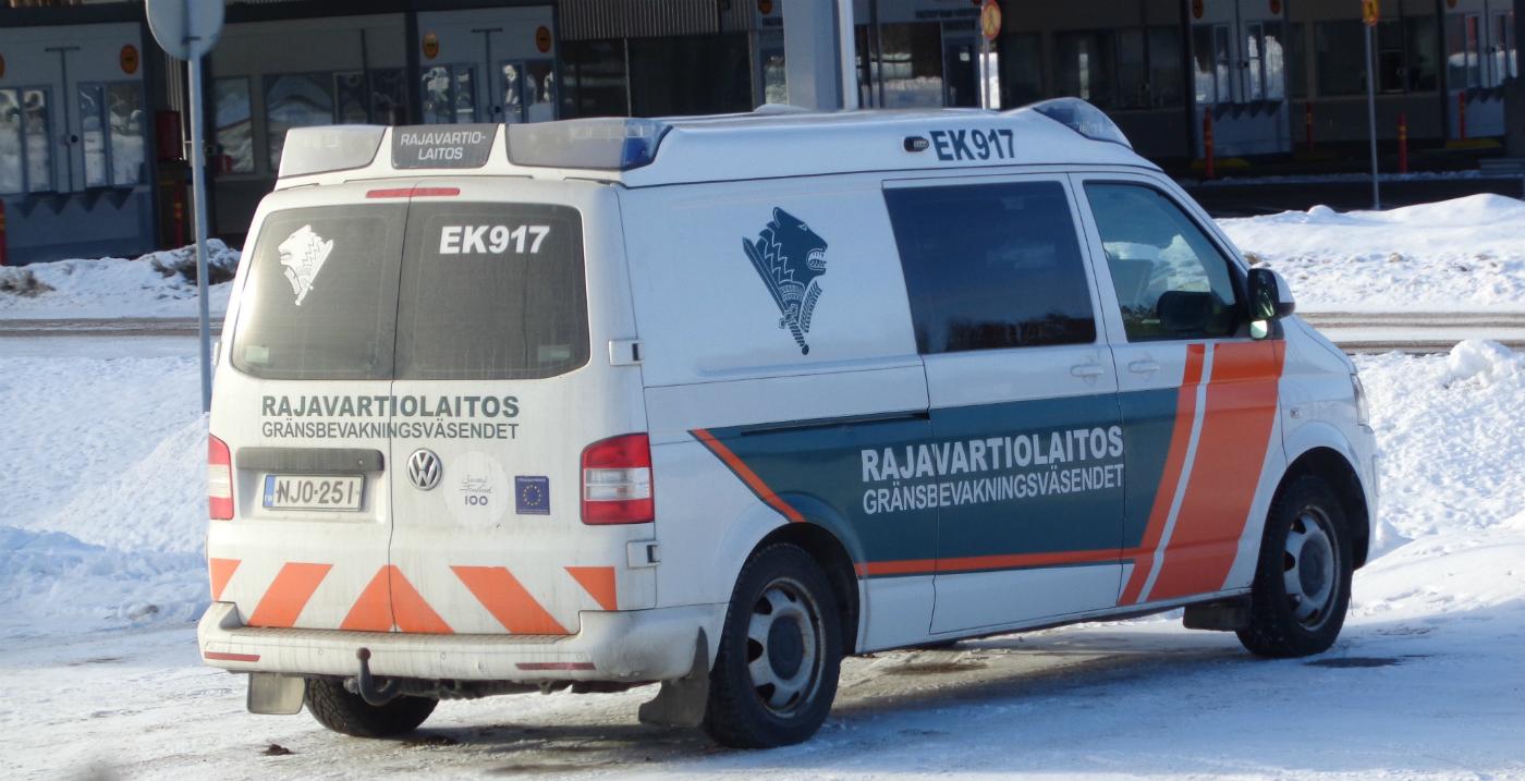 Автомобиль пограничной службы на базе Volkswagen #NJO-251. Финляндия, Ваалимаа