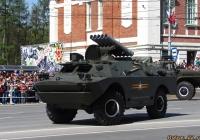 """Боевая машина 9П148 ПТРК """"Конкурс"""" на базе БРДМ-2. Новосибирск, Красный проспект"""
