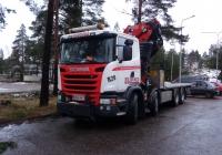 Автомобиль с грузоподъёмным краном на базе Skania #MMA-961. Финляндия, Вантаа