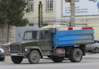 Самосвал ГАЗ-САЗ-3507 на шасси ГАЗ-3307 #Х 411 МА 45.  Курган, улица Куйбышева