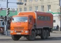 Вахтовый автобус КС2В1 на шасси КамАЗ-43118 #Х 352 КУ 45. Курган, улица Ленина