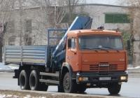 Бортовой грузовик с КМУ на шасси КамАЗ-65115 #У 444 КК 45. Курган, улица Ленина