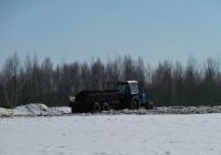 Трактор МТЗ-82.1 с прицепом разбрасывателем ПРТ-7а внесение органических удобрений под весенний сев #IВ-6 3555. Беларусь, Могилёвская область, Хотимский район