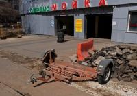 Автомобильный прицеп-эвакуатор . Москва, Селигерская улица