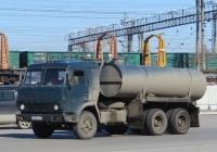 Вакуумная машина на шасси КамАЗ-53213 #Т 283 КН 45. Курган, Станционная улица
