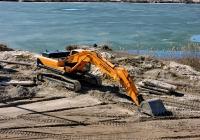 Гусеничный экскаватор HYUNDAI Robex R380LC-9SH на Безлюдовском песчаном карьре. Харьковская область, пгт Безлюдовка, песчаный карьер