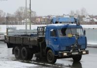 Бортовой грузовик с КМУ на шасси КамАЗ-53215 #О 645 КХ 45.  Курган, улица Климова