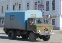 Аварийно-ремонтная машина водоканала, переоборудованная из самосвала ГАЗ-САЗ-3511 на шасси ГАЗ-66-31 #Е 007 КК 45.  Курган, улица Савельева