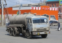 Вакуумная цистерна типа МВ-10 на шасси КамАЗ-53215 #М 988 КУ 45.  Курган, улица Бурова-Петрова