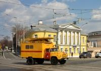 Автоподъёмник для ремонта контактной сети АП-7М на шасси ЗиЛ-431412 #К 851 ВО 77. Москва, площадь Яузские Ворота