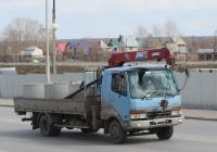 Грузовик с КМУ на шасси Mitsubishi Fuso Fighter #У 743 ЕА 45.  Курган, улица Климова