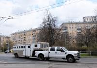 Полуприцеп для перевозки лошадей . Москва, Песчаная площадь