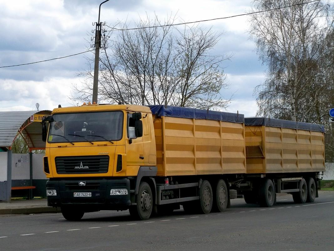 Самосвал МАЗ-6501 #АЕ 7422-6. Беларусь, Могилёвская область, Костюковичи