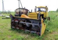 Cнегоочиститель ДЭ-220В на тракторе ДТ-75. Рязанская область