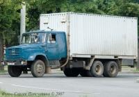 Автомобиль контейнеровоз ЗиЛ-133Д42. Гос № 096-28 ВI. Киев. ул. Стеценко.