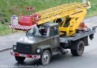 Автоподъемник АП-18 на шасси ГАЗ-3307 (шасси). Гос. № 149-85 КА. Киев.