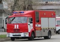 Пожарная автоцистерна СПАСА 6(4308) [282028] на шасси КамАЗ-4308  #Р 009 КО 45. Курган, улица Куйбышева