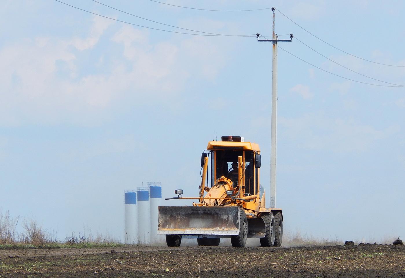 Автогрейдер ДЗ-122Б # 7175 ЕР 31. Белгородская область, Алексеевский район