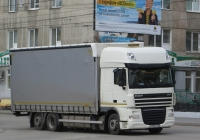 Бортовой грузовик DAF FАR ХF 105.460 #Р 705 ОЕ 58.  Курган, улица Куйбышева