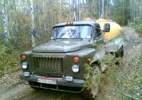Автоцистерна АЦПТ-3,3 на шасси ГАЗ-53-14 #А 743 АХ 60. Псковская область,Дновский район