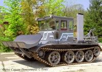 Бульдозер ЛРМЗ-460 на шасси танка Т-54.. Львов. ЛРМЗ.