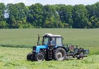 Трактор Беларус-892.2 с прицепной косилкой. Белгородская область, Алексеевский район, с. Иловка