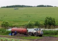 Трактор Т-150К c разбрасывателем удобрений РЖТ-16. Белгородская область, Алексеевский район, Кущинский сельский округ