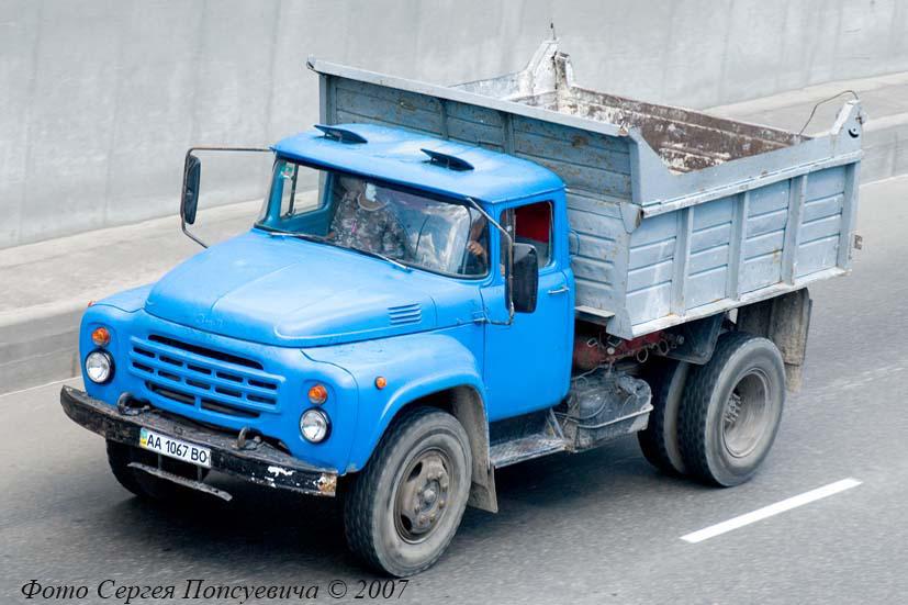 Самосвал ЗиЛ-ММЗ-4502 #АА 1067 ВО. Киев, улица О. Телиги