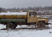 Автоцистерна Г6-ОТА-4,2 для перевозки молока на шасси ГАЗ-3307. Псковская область, Печорский район