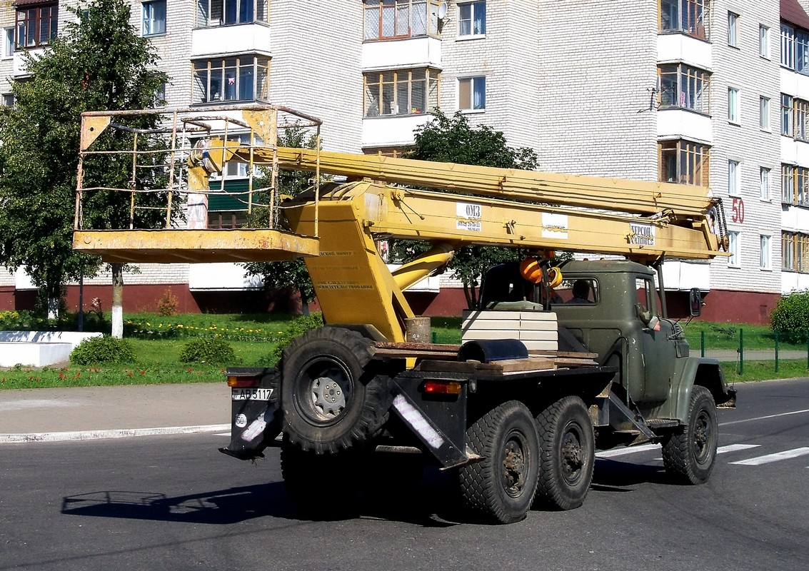 Автоподъёмник ВС-222-01 на шасси ЗиЛ-131НА #АВ 5117-6. Беларусь, Могилёвская область, Шклов