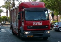 Фургон компании Coca Cola на базе DAF LF*. Израиль, Эйлат